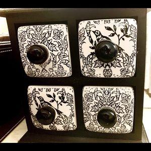 Ceramic & Wood Jewelry Box